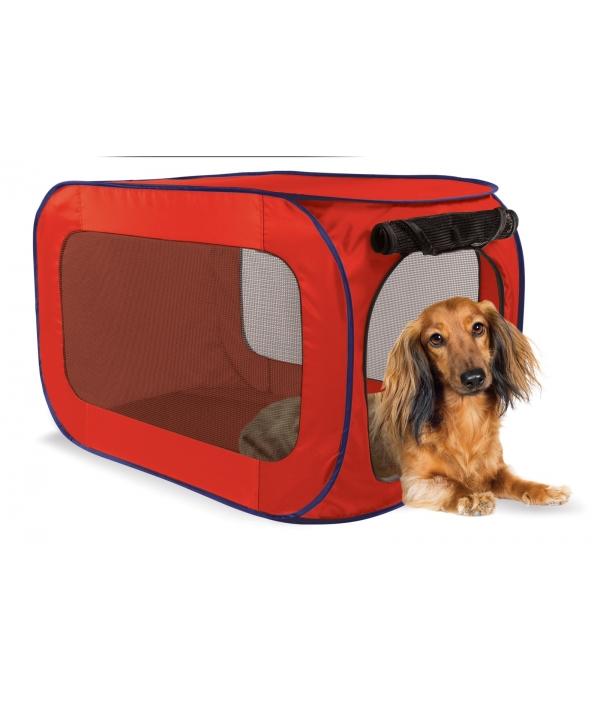 Переносной домик для собак малых пород 38,1*38,1*66 см, полиэстер (Portable dog kennel small) PL0009