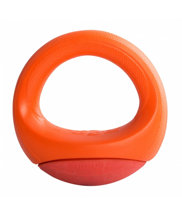 Игрушка для собак кольцо – неваляшка Pop – Upz, среднее/большое,оранжевый (Rogz Pop – Upz Orange Med/Large) RPU04D
