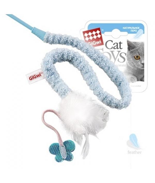 Игрушка для кошек Дразнилка с перьями на стеке (75112)50185