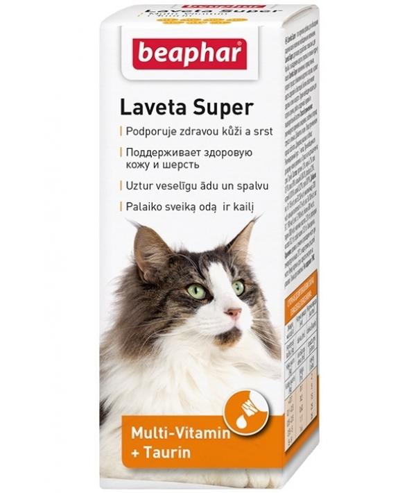 Витамины для кожи и шерсти Кошек, масло (Laveta Super for Cats) 12524