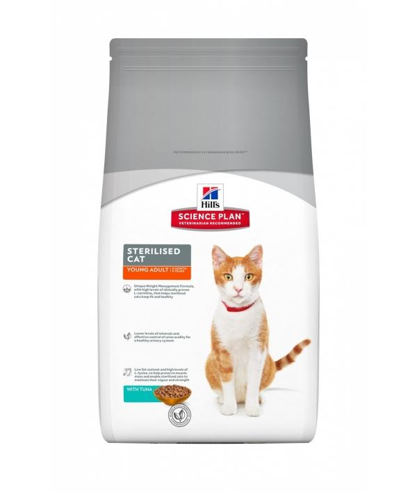 Для молодых кастрированных котов и кошек: 6 мес. – 6лет с тунцом (Young Adult) 10293R