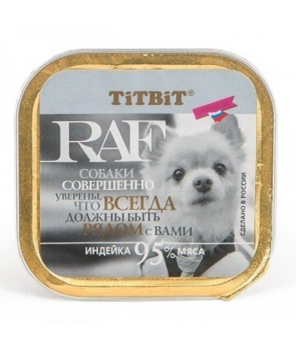 Паштет для собак RAF с индейкой (7679)