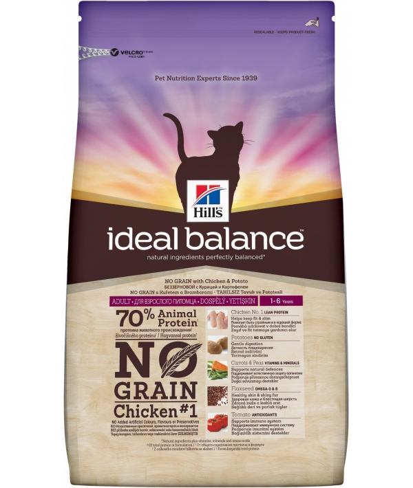 Беззерновой корм для взрослых кошек с курицей и картофелем (Adult Chicken&Potato) 10723T