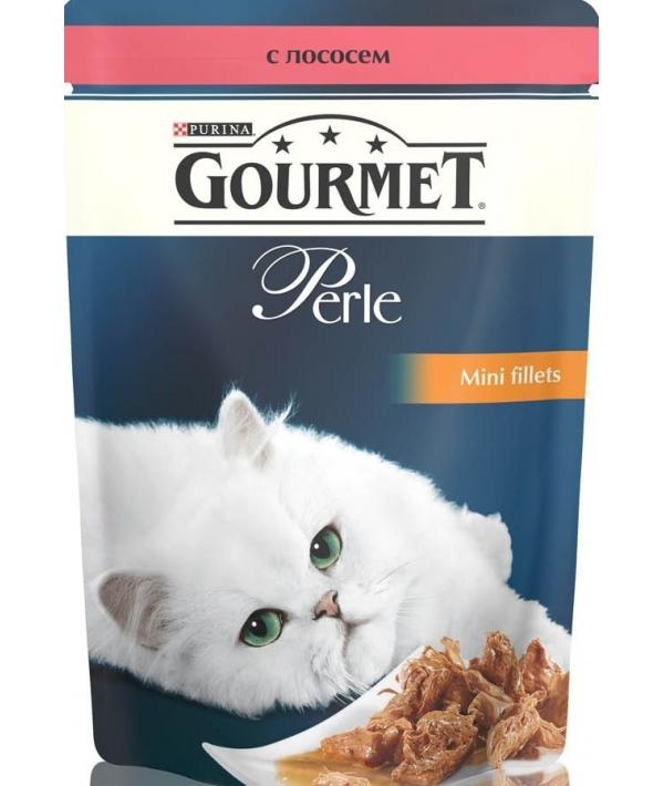 Паучи в подливе с лососем для кошек (Gourmet Perl) 12222480//12318019