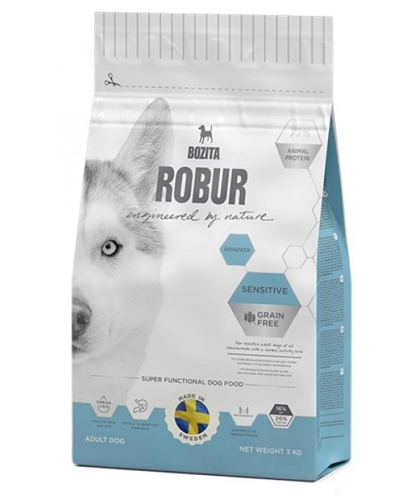 Robur для взрослых собак с нормальным уровнем активности и чувствительным пищеварением, беззерновой с оленем (Sensitive Grain Free Reindeer 26/16) 24221