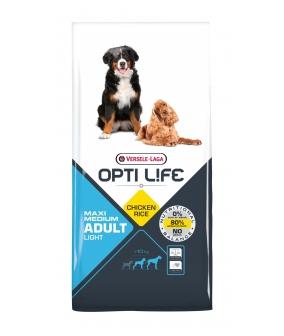 Для собак с курицей и рисом, контроль веса (Opti Life Adult Light Medium & Maxi) 431136