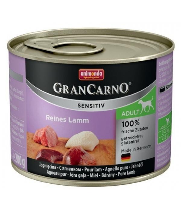 Консервы для чувствительных собак GranCarno Sensitiv c ягненком