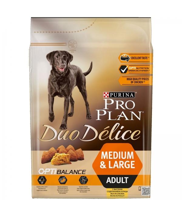 Для взрослых собак средних и крупных пород с курицей и рисом (DUO DELICE) 12176334/ 12340478