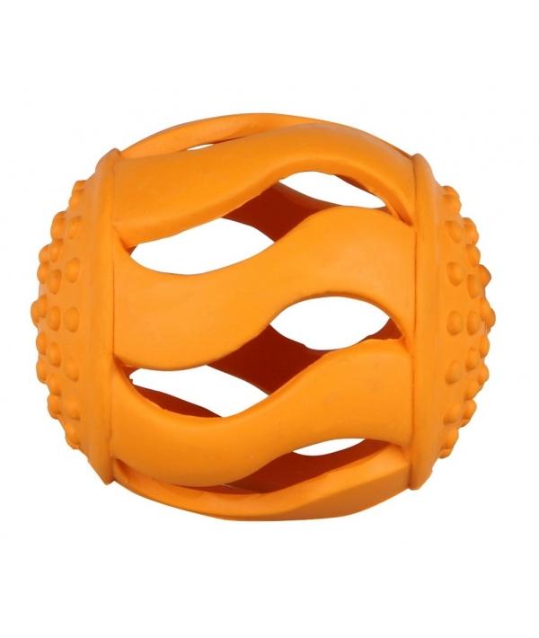 """Игрушка для собак """"Оранжевый мяч"""" 8 см, резина 5620123"""
