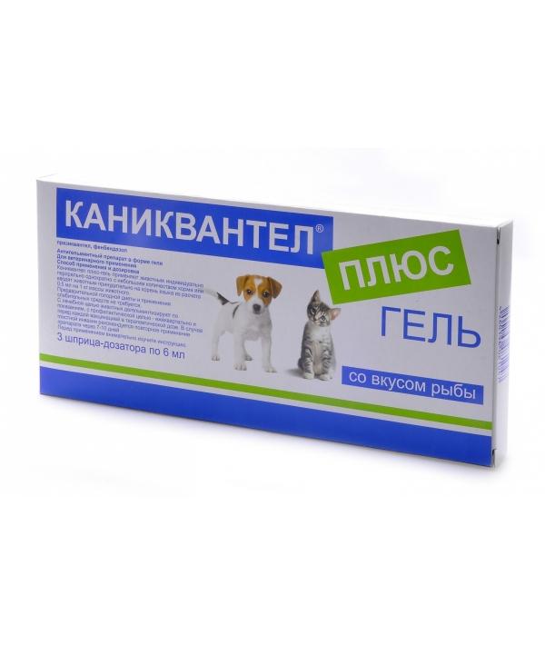 Каниквантел+ Гель от Глистов для собак и Кошек, 3шт. (1шт.=12кг)