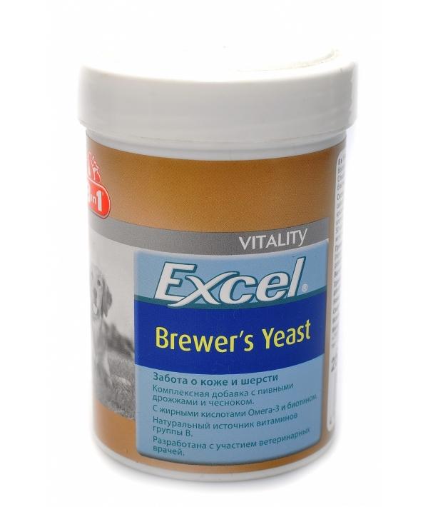 Эксель Пивные дрожжи для собак с чесноком (140 таб.) 8in1 Excel Brewer's Yeast 109495