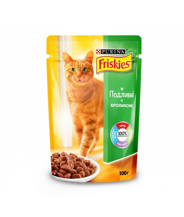 Кусочки в подливе с Кроликом для кошек 12227705