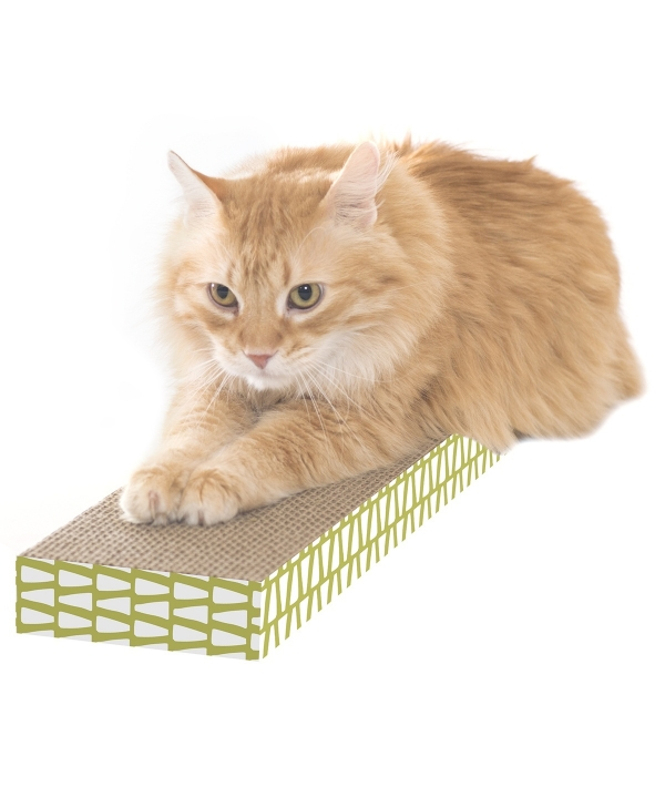 Когтеточка доска малая, 4*13*46 см (Small corrugate scratcher) PL0419