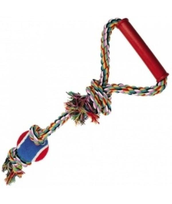 """Игрушка """"Веревка № 1"""" для собак, 50см, хлопок, пластик, резина (5608042)"""