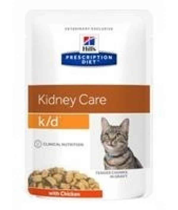 Паучи K/D для кошек при лечении почек с курицей (кусочки в соусе) 1187M