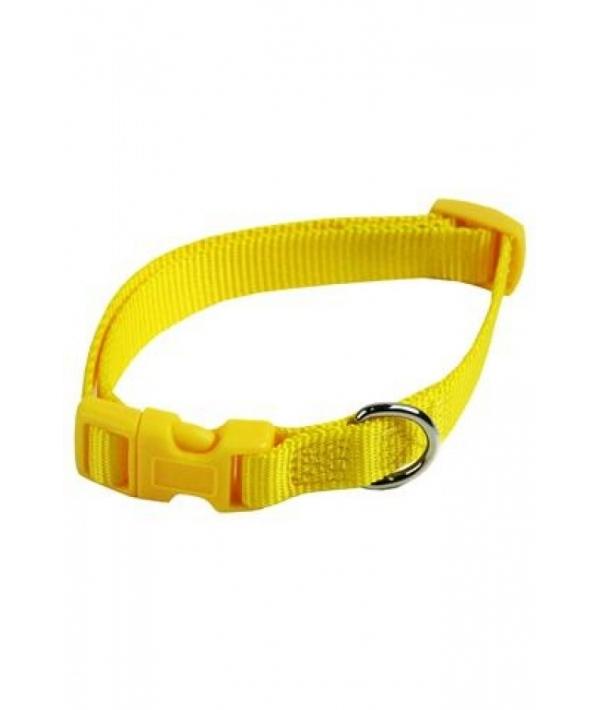 Нейлоновый ошейник 10мм – 20 – 30см, желтый (Adjustable nylon collar, 10 mm x 20 – 30 cm, colour yellow) 170209