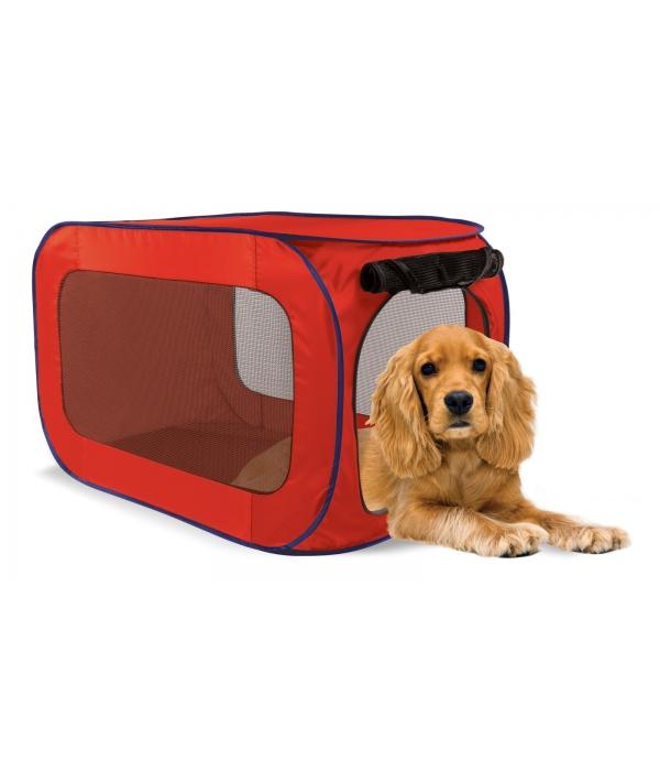 Переносной домик для собак средних пород 50,8*50,8*81,3 см, полиэстер (Portable dog kennel medium) PL0010