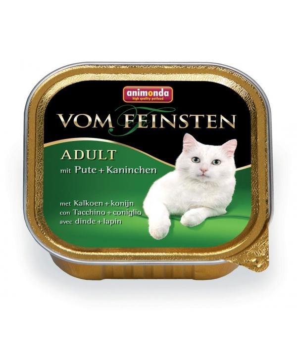 Консервы для кошек с индейкой и кроликом (Vom Feinsten Classic) 83205