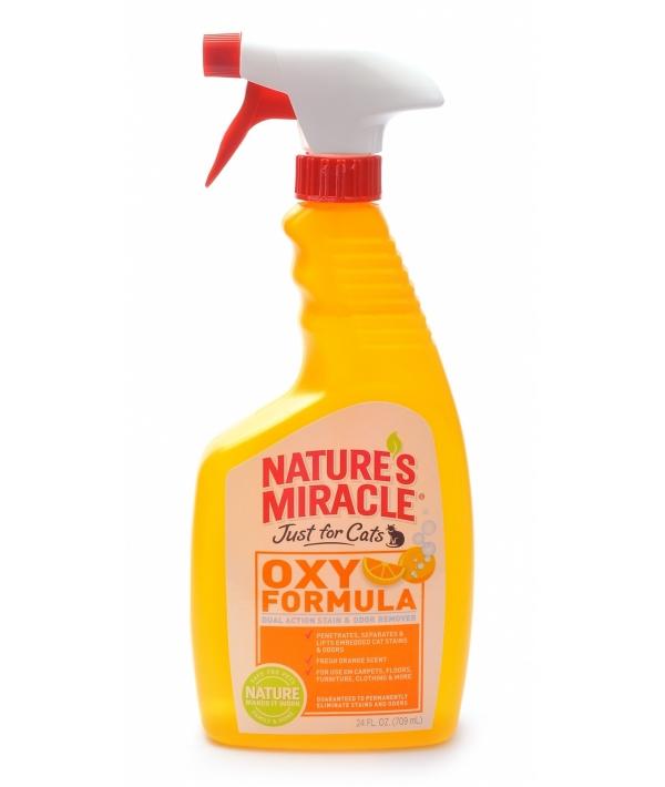 """Спрей – Уничтожитель """"кошачьих меток"""", пятен и запахов с ароматом апельсина (Stain&Odor Remover, Orange – Oxy), enm5161"""