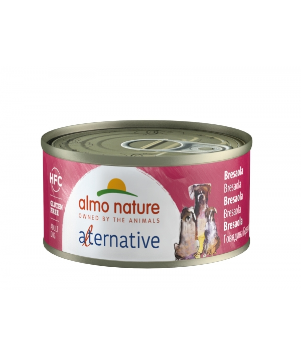 "Консервы для собак ""Говядина брезаола"", 55% мяса (HFC ALMO NATURE ALTERNATIVE DOGS BRESAOLA) 5460"