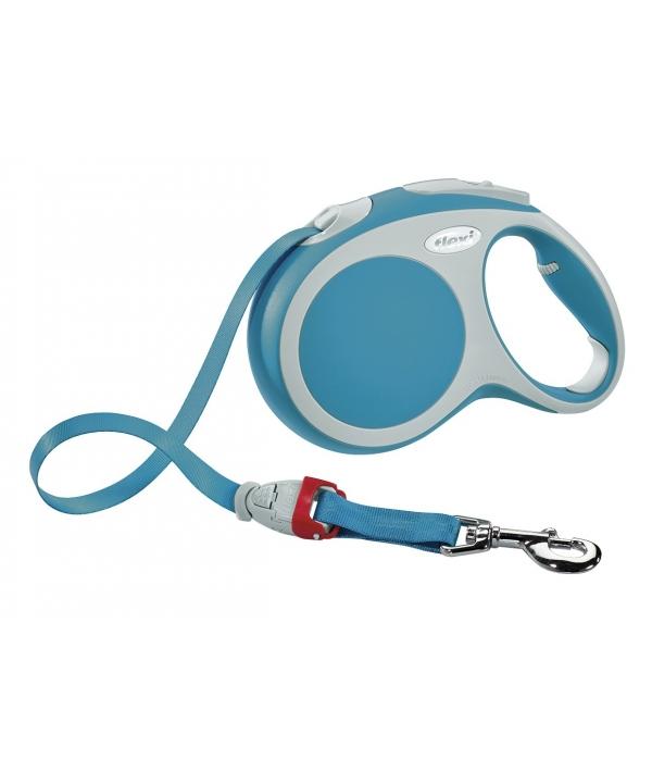 Рулетка – ремень для собак до 15кг, 5м, бирюзовая (Vario S tape 5m turquoise)