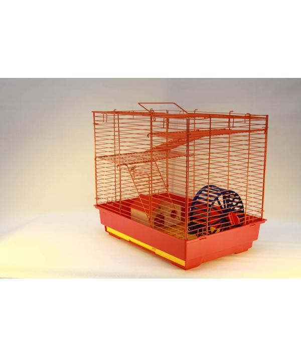Vip – клетка №2 д/грызунов, 41*30*37см, 2этажа, домик, колесо (14см), миска (6см) (4042)