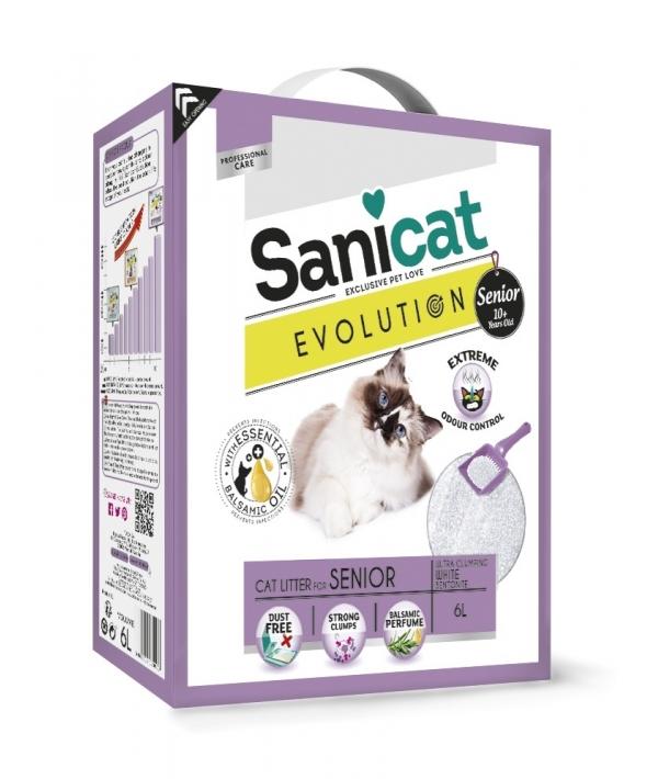 Комкующийся антибактериальный наполнитель для пожилых кошек, мощный контроль запаха без пыли (Evolution Senior) PSANEVOS006L31