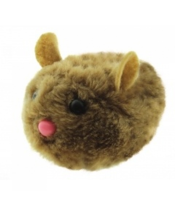"""Виброигрушка """"Коричневая мышь"""" для кошек, 10см, плюш (5605142)"""