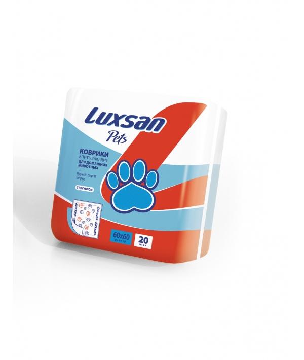 Пеленки для животных 60*60см,20шт. (100% целлюлоза) 3660202
