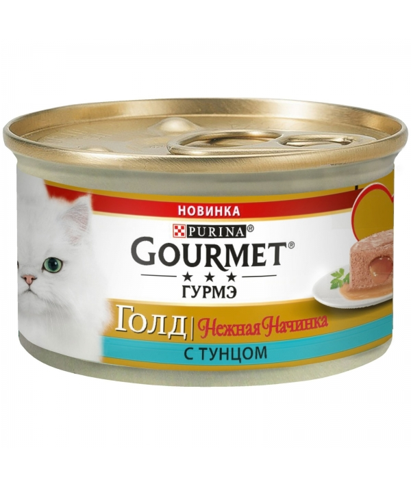 Консервы для кошек нежная начинка Gourmet Gold Тунец (Melting Heart ) 12348458
