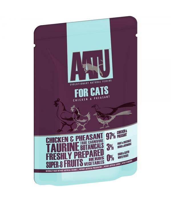 Паучи для кошек Курица и Фазан (AATU FOR CATS CHICKEN & PHEASANT) WACCP85