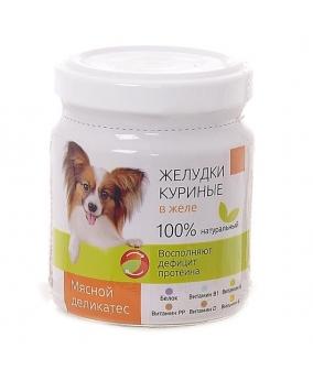 Консервы для собак Желудки куриные в желе (003664)