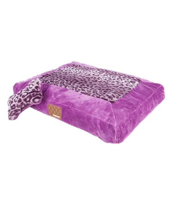 """Кровать – лежанка для собак """"Леопард"""", фиолетовый (60см х 45 см х 10 см) (PUMAPARD/PURPLE/FR) PAPD – AU1342 – PU – FR"""