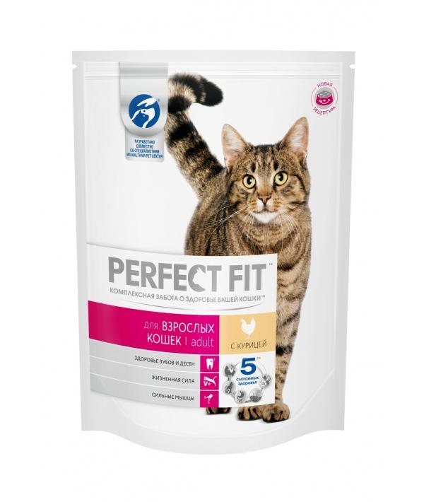 Сухой корм для взрослых кошек, с курицей (PERFECT FIT Adult Ck 16*190g) 10162168