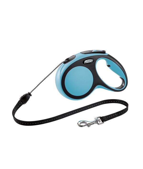 Рулетка – трос для собак до 20кг, 5м, голубая (New Comfort M Cord 5 m, blue)