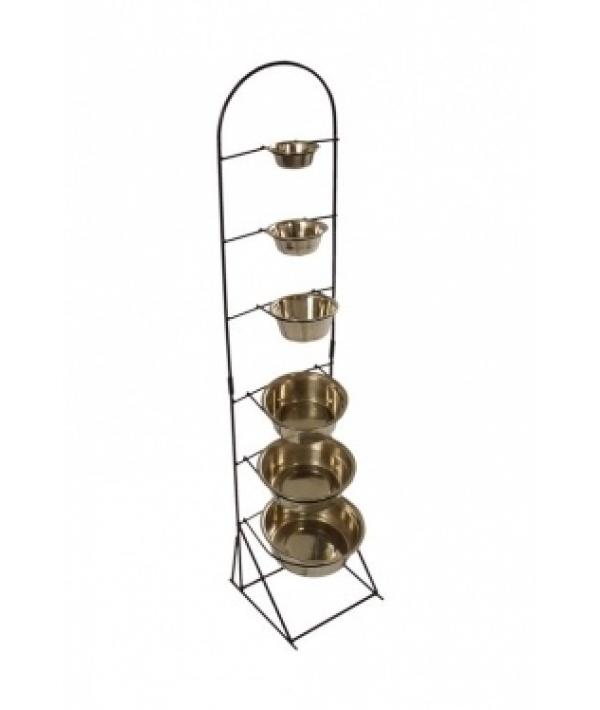 Стойка под 6 мисок, 130см (Display for stainless steel dishes height) 175451
