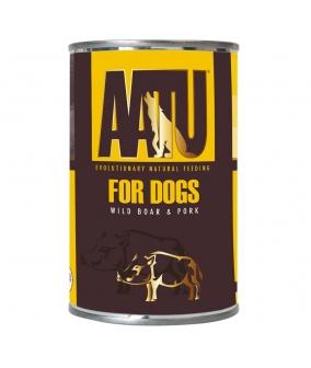 Консервы для собак Мясо Дикого Кабана и Свинина (AATU WILD BOAR & PORK) WABP400