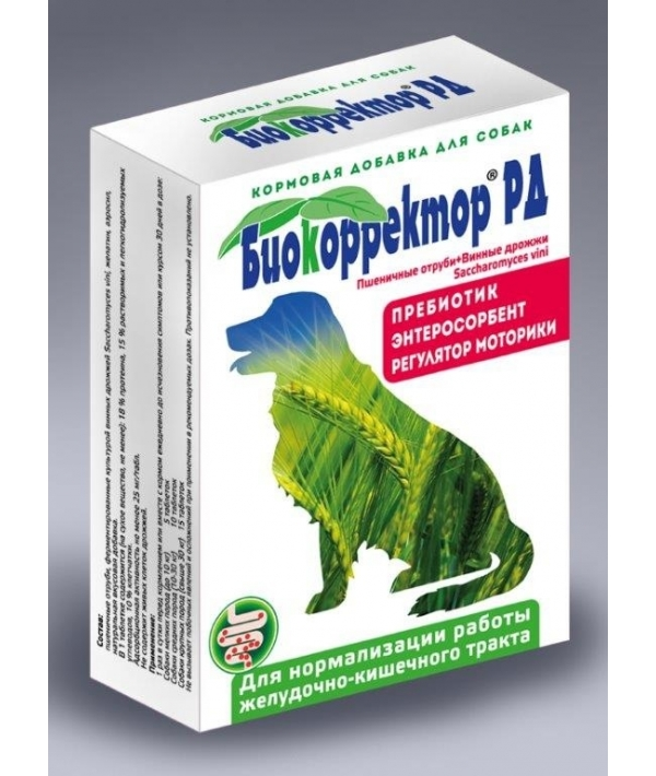 Биокорректор для собак натуральная биологически активная добавка 90таб (12625)