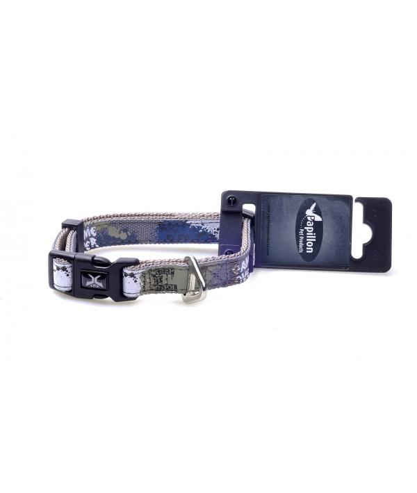 """Нейлоновый ошейник """"Рок – н – ролл"""" 15мм – 30 – 40см, серый (Adjustable nylon collar, 15 mm x 30 – 40 cm, X – TRM Rock – N – Roll, colour grey) 170270"""