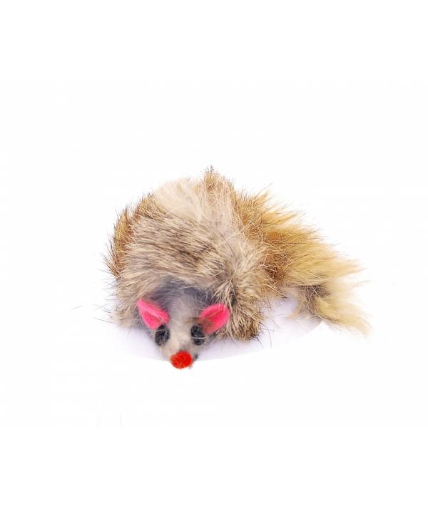 Пушистый мышонок, натур. Мех. Кролик, 9см, цвет в ассорт (Furmouse, ass. Colours, 9cm) 240046