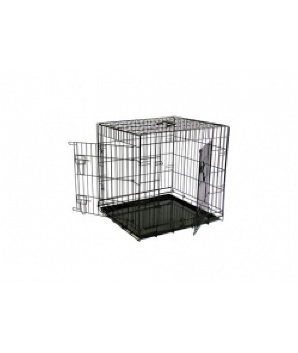 Клетка металлическая с 2 дверками, 61*54*58 см, черная (Wire cage black 2 doors)151261