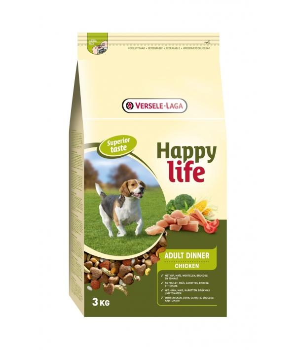 """Для собак """"Куриный ланч"""" (Happy life Adult Chicken Dinner) 431105"""