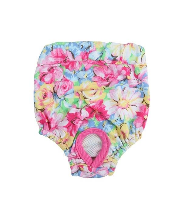 """Трусы для собак с цветочным принтом """"Весенний сад"""", розовый, размер L (длина 21,5 см) (SPRING GARDEN SANITARY/PINK/L) PAPB – PT1315 – PK – L"""