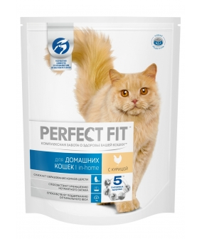 Сухой корм для домашних кошек, с курицей (PERFECT FIT Inhome Ck 6*1.2kg) 10162231