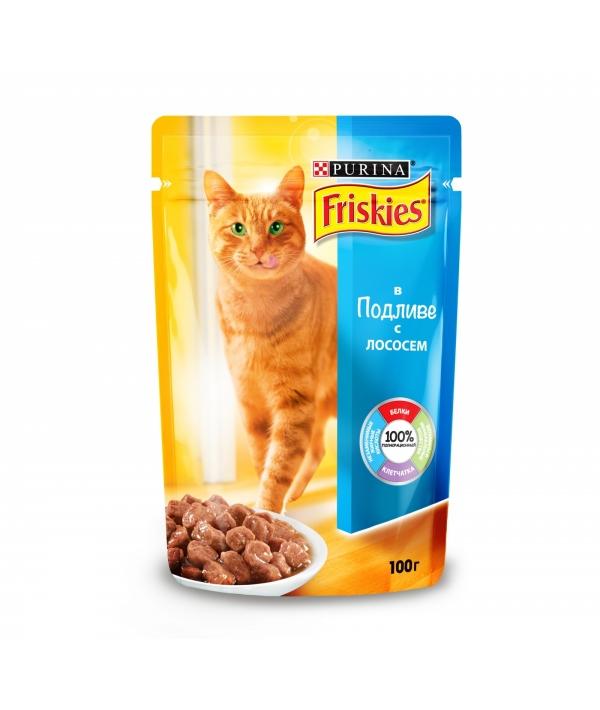 Кусочки в подливе с Лососем для кошек 12239320