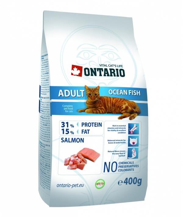 Для взрослых кошек с морской рыбой (ONTARIO Adult Ocean Fish 0,4kg) 213 – 0034