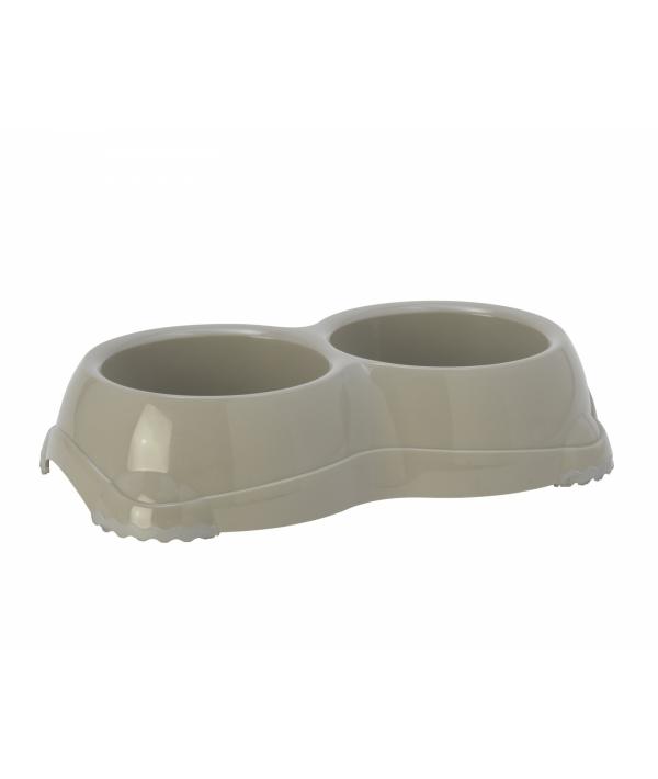 Двойная миска нескользящая Smarty, 2*645мл, теплый серый (double smarty bowl 2 – non slip 2 x 645 ml) MOD – H107 – 330.