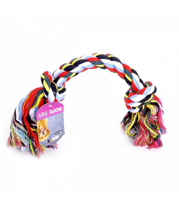 """Игрушка для собак """"Веревка с 2 узлами"""", хлопок, 50см (Flossy toy 2 knots) 140745"""