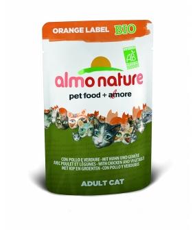 Органик – Паучи для Кошек с Курицей и Овощами (Orange label BIO Cat Chicken&Vegetables) 402