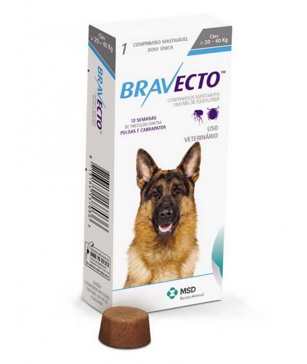 Бравекто жевательная таблетка от блох и клещей для собак 20 – 40кг 1000мг (40281)
